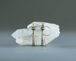 silver squash blossom pomegranate earrings
