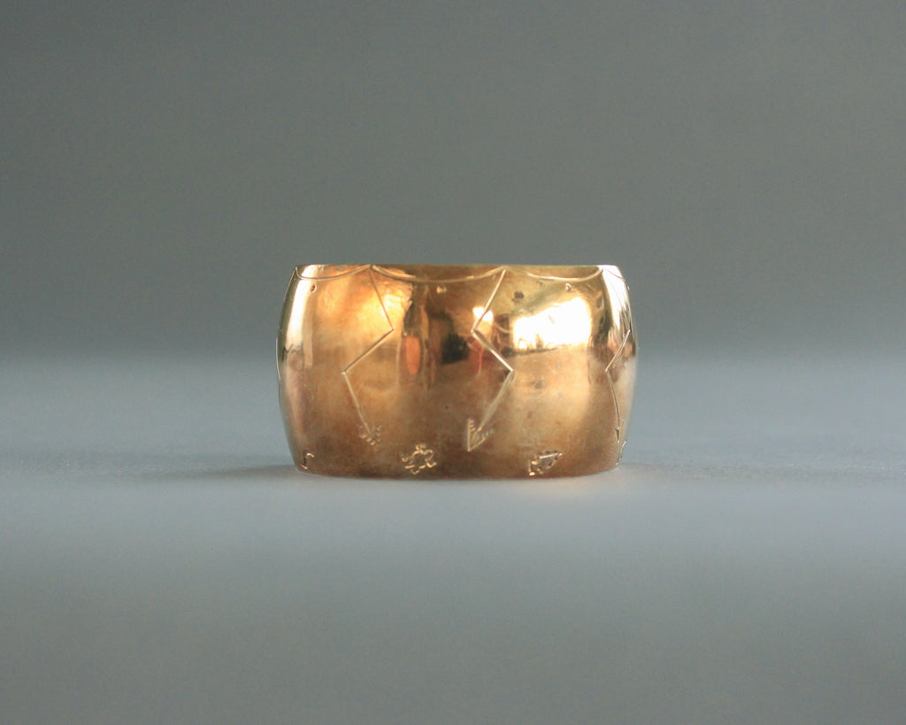 Wide Southwest Brass Cuff by Everette T Dine
