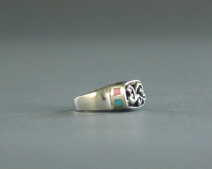 southeast asian yogi ring sterling silver size 5.5