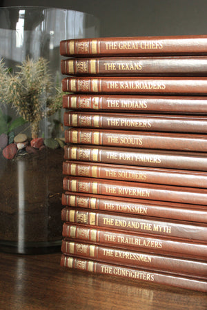 The Old West Embossed Books by Time Life