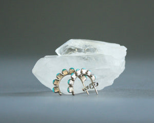 western hoop earrings sterling silver turquoise