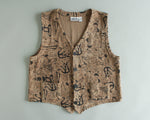Chico's tribal print velvet vest women's size large