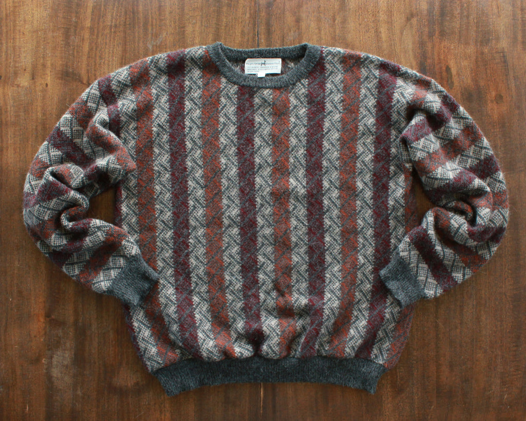 Handmade South American alpaca sweater size large