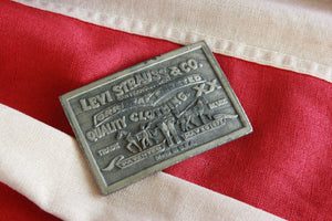 70's vintage Levi's label belt buckle