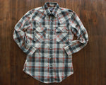 Vintage plaid Levi's Big E Western shirt with pearl snap buttons men's medium