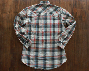 "Vintage plaid Levi's ""Big E"" Western shirt with pearl snap buttons men's medium"