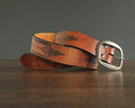 Cowgirl Hippie Embossed Leather Belt