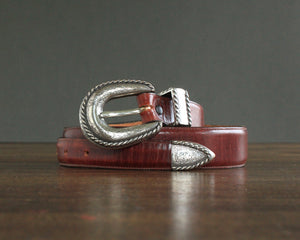 burgundy leather 90s ranger belt size 30
