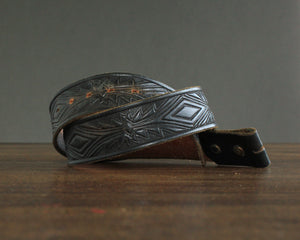 Black southwest tooled belt size 30