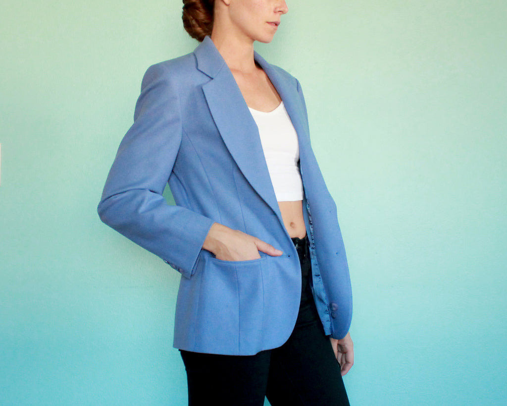 Pendleton Wool light blue blazer womens size 6