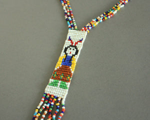 Yei figure beaded tribal necklace
