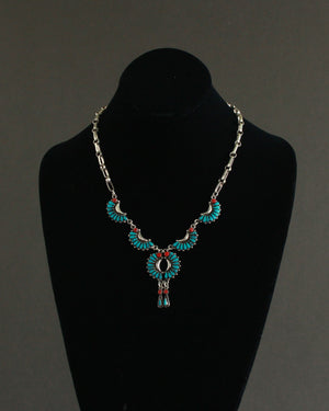southwest petite point statement necklace