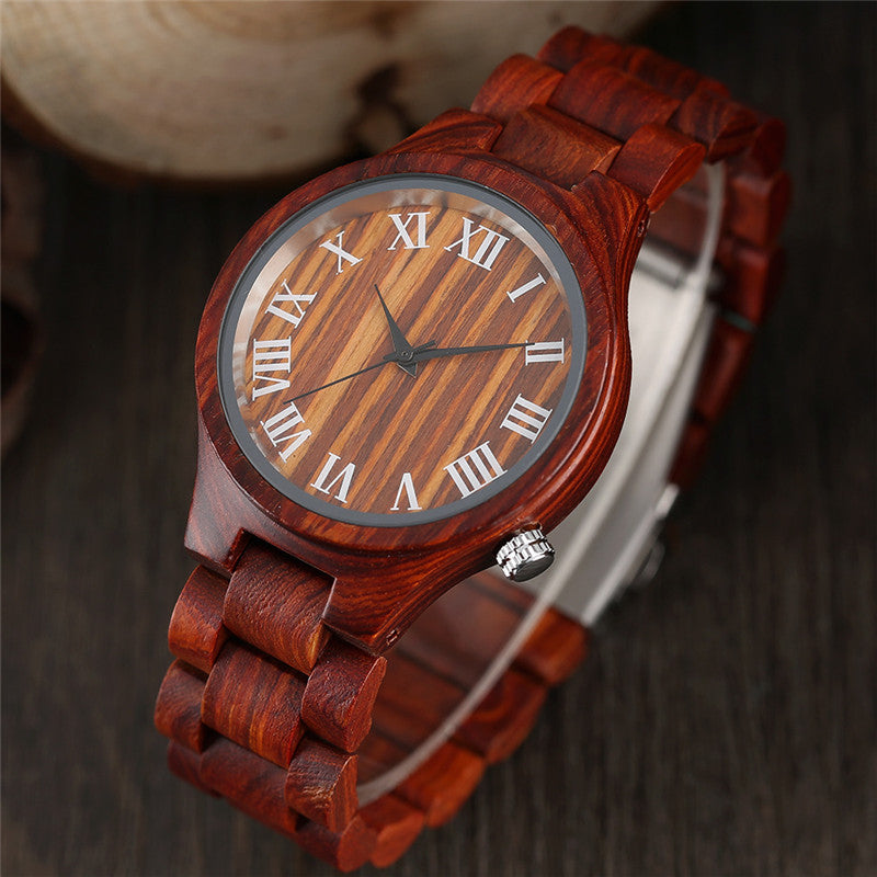 Windfall Precise Roman Wooden Watch - FANTASY AVENUE