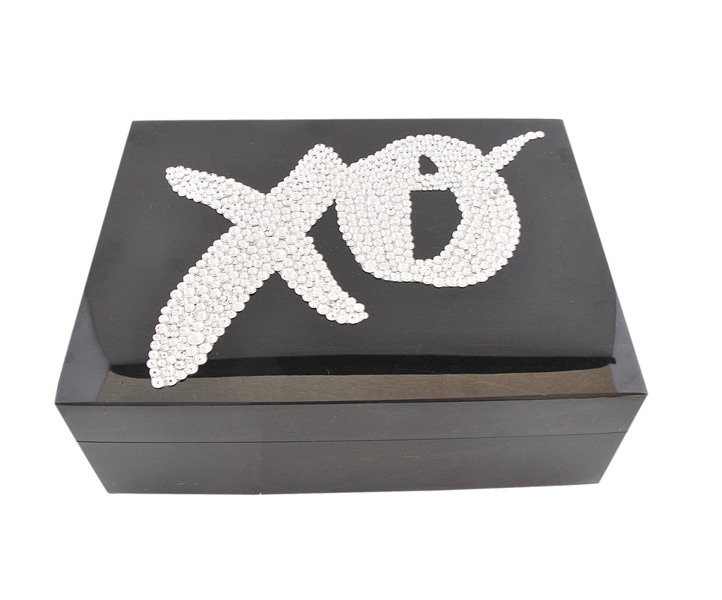 XO Box, Brown Lacquer with SWAROVSKI® Crystal