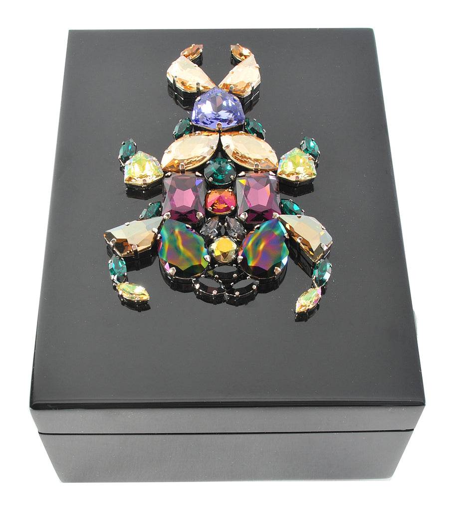 Lacquered Box, Crystal Stag