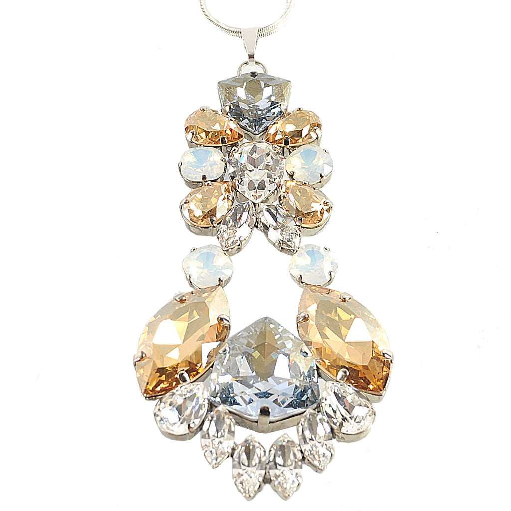 Crystal Chandelier Pendant Necklace