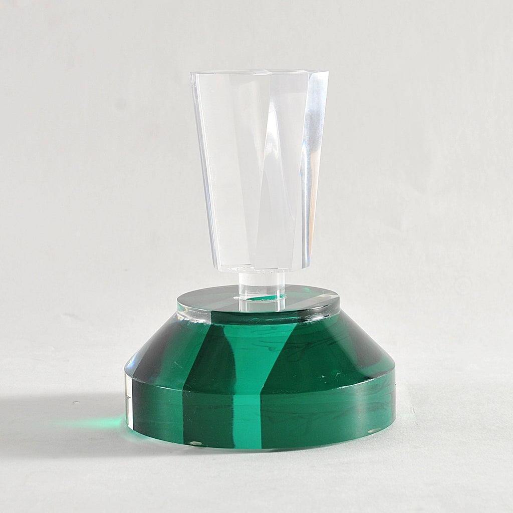 Lucite Parfume Bottle, Green
