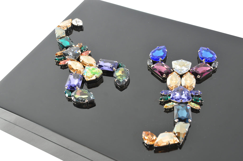 Lacquered Box, Crystal Scorpion Duo