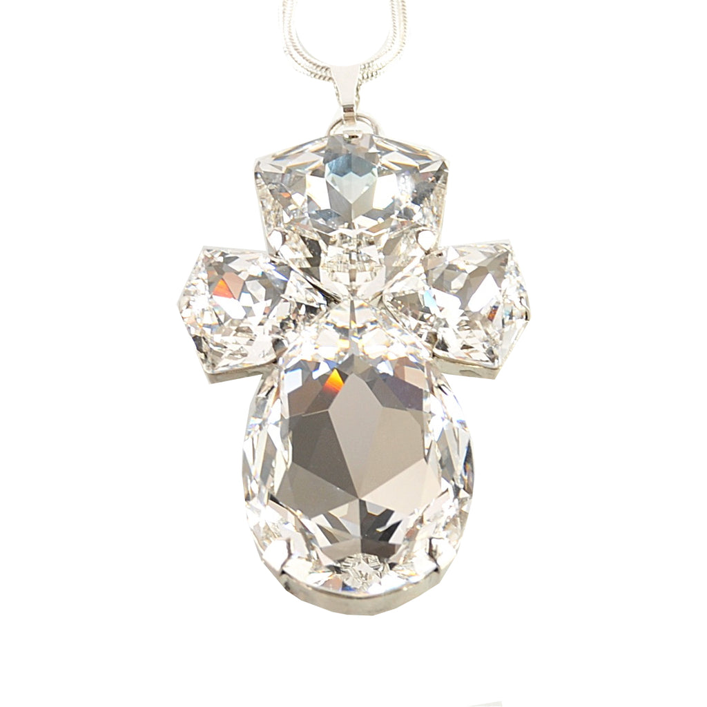 Crystal Pear Pendant Necklace