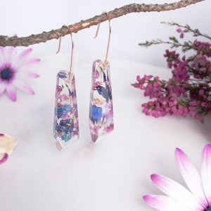 Faceted Dangle - African Daisy confetti