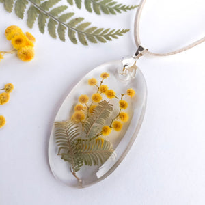 Oval Wattle  Necklace