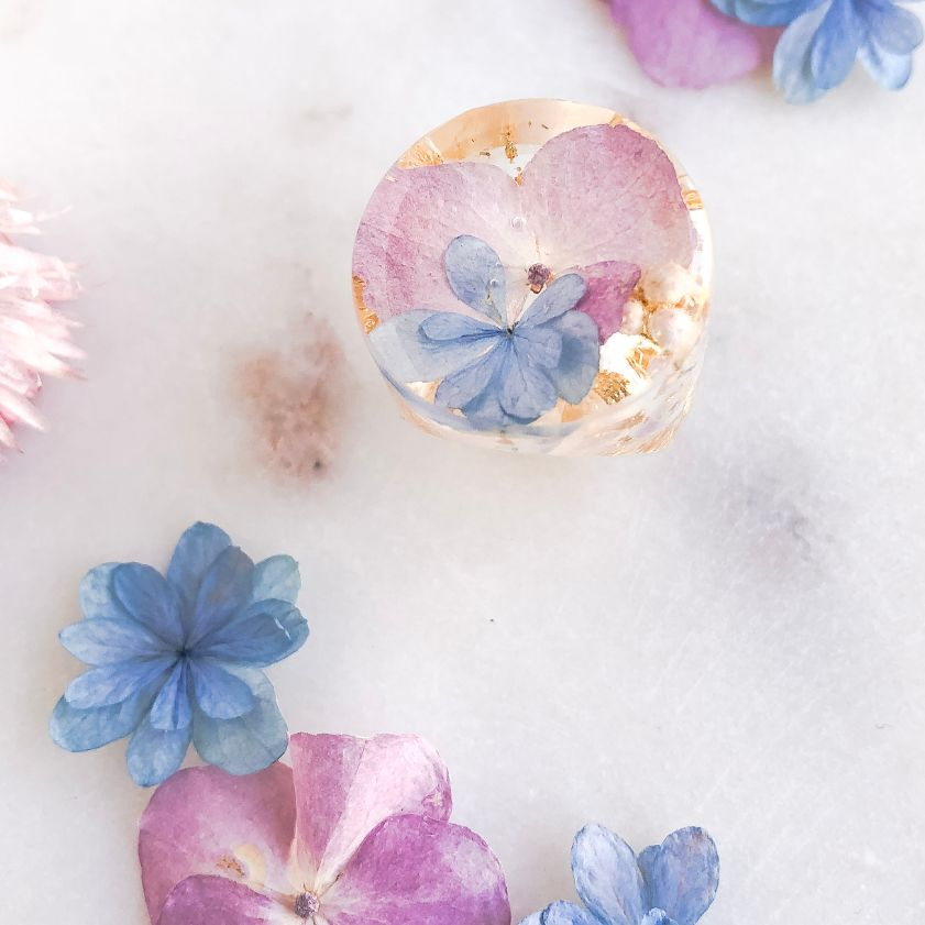 Super Statement Ring - Pink Hydrangea
