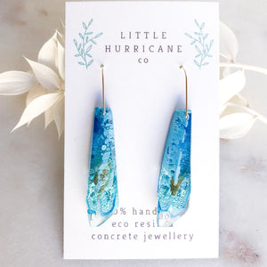 Blue Lagoon Faceted Dangles