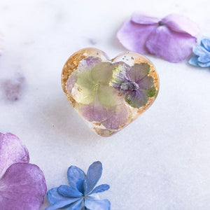 Super Statement Ring - Hydrangea Heart