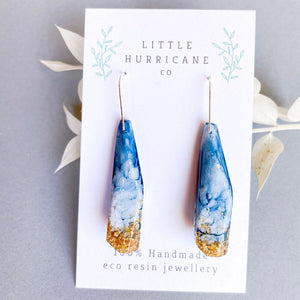 Cloudy Skies Faceted Dangle