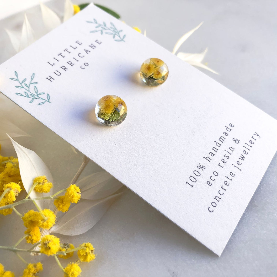 Sphere Studs - Golden Wattle