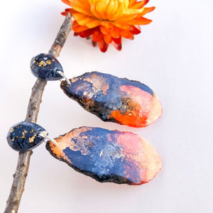 On Fire Geode Dangles small