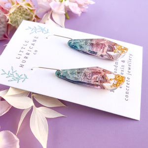 Aurora Borealis Faceted Dangles