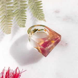 Translucent Statement Ring - Red Gum & Wattle