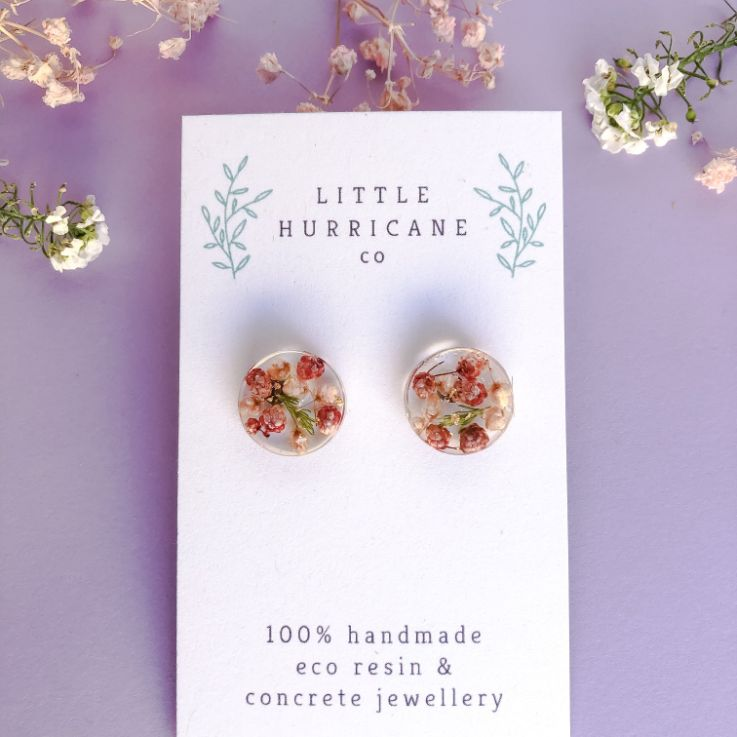 Button Studs - Rice Flowers