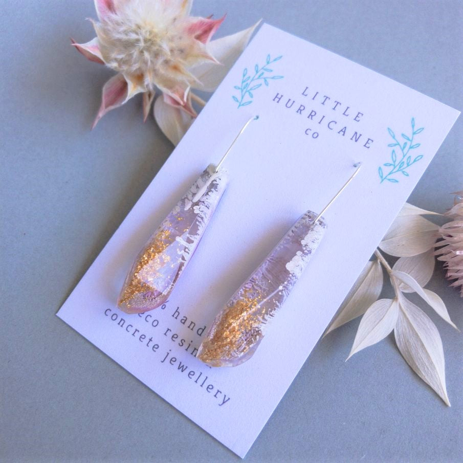 Lavender Gold Faceted Dangles