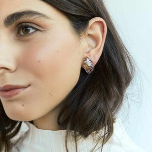 Faceted Studs - Heath flowers - Little Hurricane Co