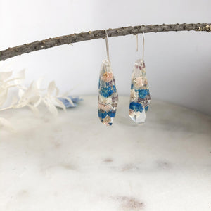 Blue Baby's Breath Faceted Dangle - Little Hurricane Co
