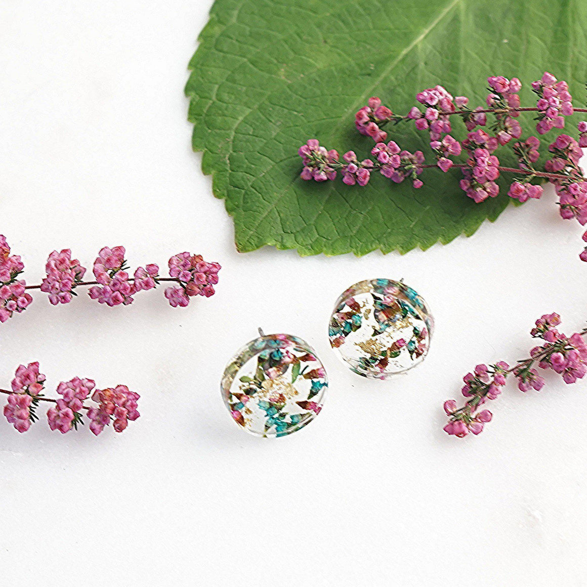 Button Studs - Australian Native Thryptomene Flower - Little Hurricane Co