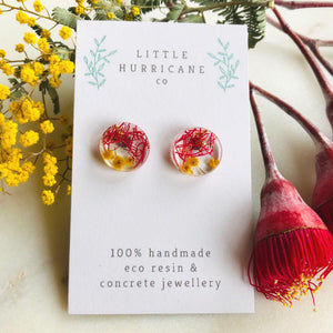 Button Studs - Wattle and gum blossom - Little Hurricane Co