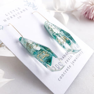 Emerald Green Faceted Dangles - Little Hurricane Co