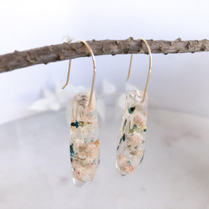 Faceted Dangles - Baby's Breath & Thyrptomene - Little Hurricane Co