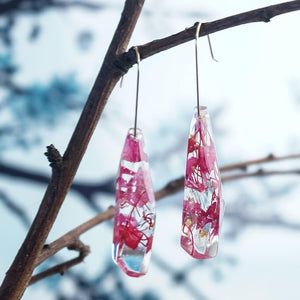 Faceted Dangles - Fuchsia & Gumnut Blossom - Little Hurricane Co