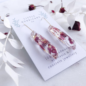 Faceted Dangles - Rose Petal & Gumnut Blossom - Little Hurricane Co