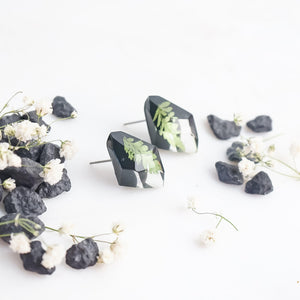 Faceted Studs - Foraged Fern - Little Hurricane Co