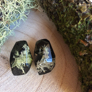 Faceted Studs - Foraged Lichen - Little Hurricane Co