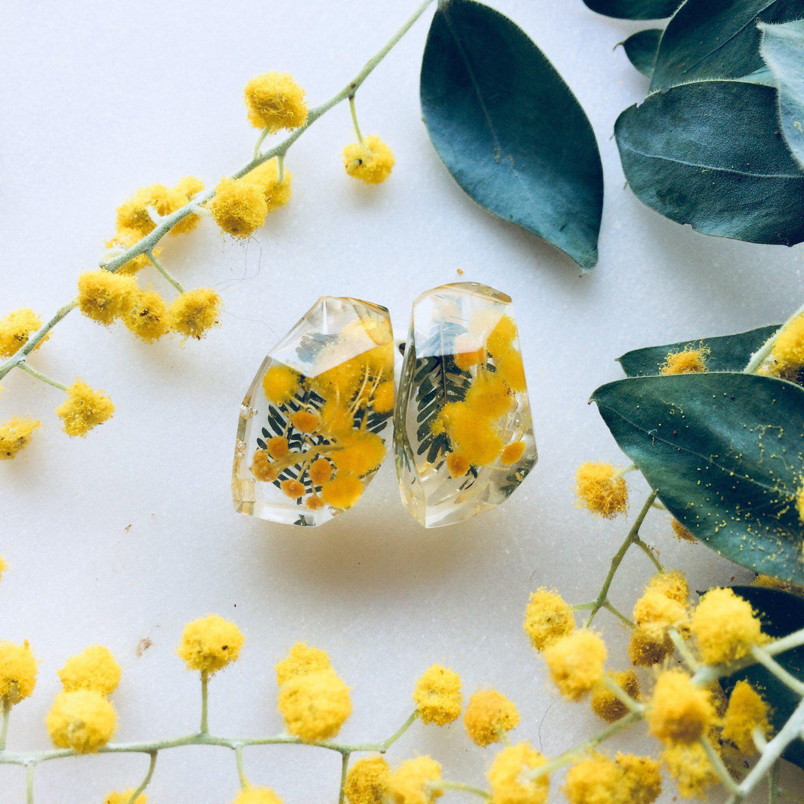 Faceted Studs - Golden Wattle - Little Hurricane Co