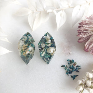 Faceted Studs - Thryptomene & Rice Flower - Little Hurricane Co