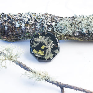 Foraged Lichen necklace - Little Hurricane Co