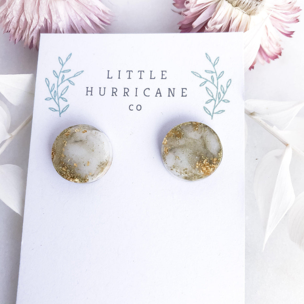 Gold Dust - button studs - Little Hurricane Co