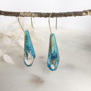 Golden Blues Faceted Dangles - Little Hurricane Co